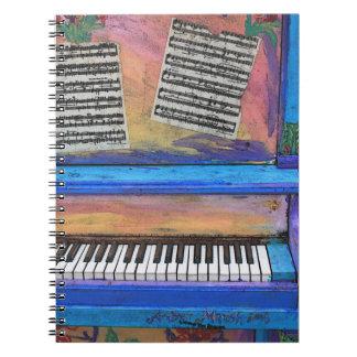 Kleurrijke Piano Ringband Notitie Boek