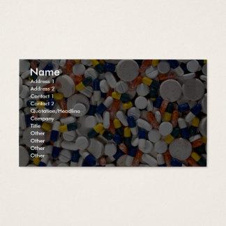Kleurrijke Pillen Visitekaartjes