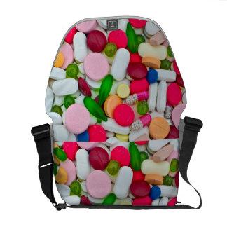 Kleurrijke pillenzak courier bag