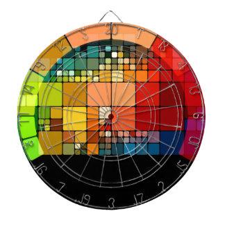 Kleurrijke psychedelisch dartbord