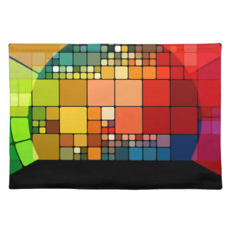 Kleurrijke psychedelisch placemat