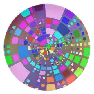 Kleurrijke psychedelische #2 melamine+bord