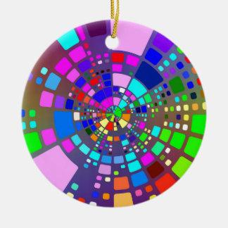 Kleurrijke psychedelische #2 rond keramisch ornament