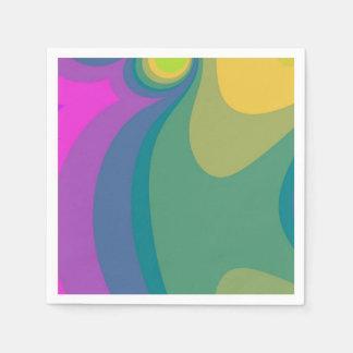 Kleurrijke Psychedelische Wervelingen Papieren Servetten