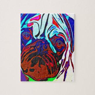 Kleurrijke Pug Puzzel