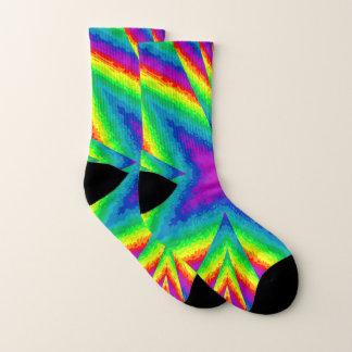 Kleurrijke regenboogcaleidoscoop sokken