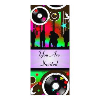 Kleurrijke retro de muziekpartij van de pret kaart