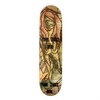 kleurrijke retro de stijl abstracte dame van de skate deck