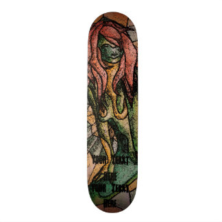 kleurrijke retro de stijl abstracte dame van de skateboard deck