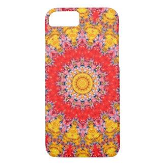 Kleurrijke Rode en Gele Caleidoscoop Mandala iPhone 8/7 Hoesje