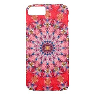 Kleurrijke Rode en Roze Mandala iPhone 8/7 Hoesje