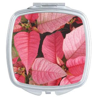 Kleurrijke Roze Kerstmis van Poinsettia Bloemen Make-up Spiegel