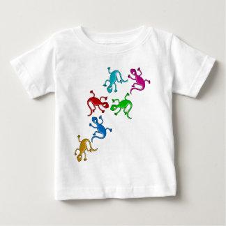 Kleurrijke, speelse hagedissen baby t shirts