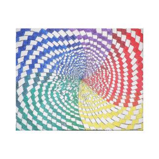 Kleurrijke spiraalvormige optische illusie gallerij wrap canvas