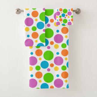 Kleurrijke Stippen Bad Handdoek
