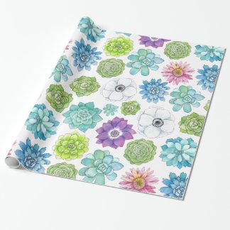 Kleurrijke Succulents en het Verpakkende Document Inpakpapier