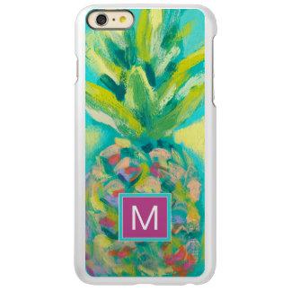 Kleurrijke Tropische Ananas Incipio Feather® Shine iPhone 6 Plus Hoesje
