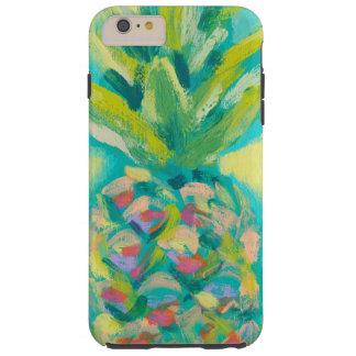 Kleurrijke Tropische Ananas Tough iPhone 6 Plus Hoesje