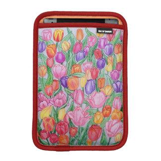 Kleurrijke Tulpen die iPad mini 2/3 Zacht Sleeve