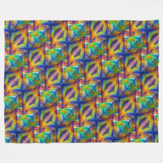 kleurrijke vachtdeken fleece deken