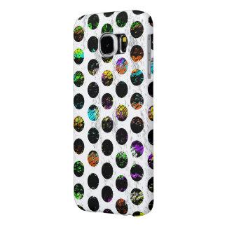 Kleurrijke Verontruste Polkadots Samsung Galaxy S6 Hoesje