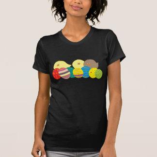Kleurrijke Versierd Eieren van de Cartoon van de T Shirt