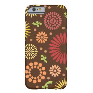 Kleurrijke vintage zonnebloemen barely there iPhone 6 hoesje