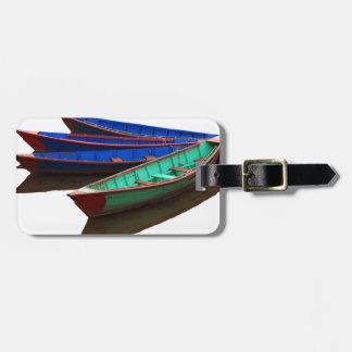 Kleurrijke Vissersboten Kofferlabel