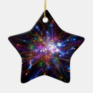 Kleurrijke vlek keramisch ster ornament