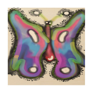 """Kleurrijke vleugels!! 12 Art. van de Muur van """" Foto Op Hout"""