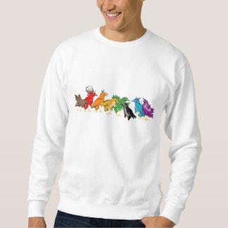 Kleurrijke Vogels die samen bijeenkomen Trui