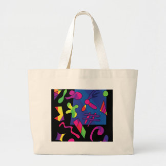 Kleurrijke vormen jumbo draagtas