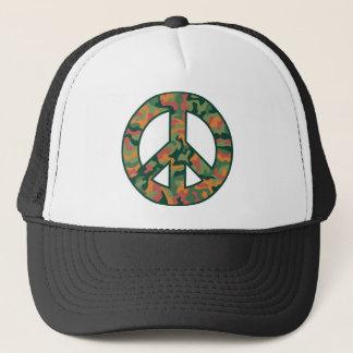 Kleurrijke Vrede Camo Trucker Pet