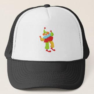 Kleurrijke Vriendschappelijke Clown in Ruche aan Trucker Pet