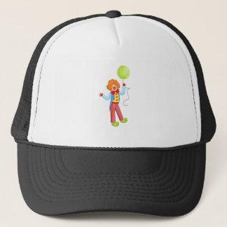 Kleurrijke Vriendschappelijke Clown met Ballon in Trucker Pet