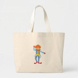 Kleurrijke Vriendschappelijke Clown met Bretels in Grote Draagtas