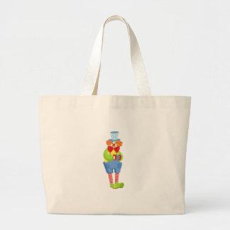 Kleurrijke Vriendschappelijke Clown met Grote Draagtas