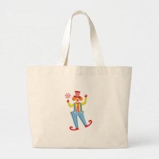 Kleurrijke Vriendschappelijke Clown met Lollypop Grote Draagtas