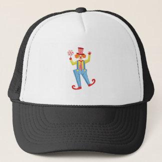 Kleurrijke Vriendschappelijke Clown met Lollypop Trucker Pet