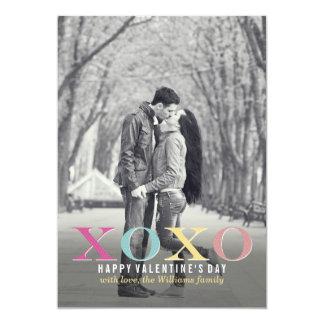 Kleurrijke XOXO | Kaarten van de Valentijnsdag 12,7x17,8 Uitnodiging Kaart