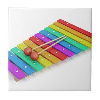 Kleurrijke xylofoon tegeltje