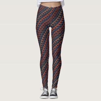 Kleurrijke zigzag karo-Stappen… Leggings