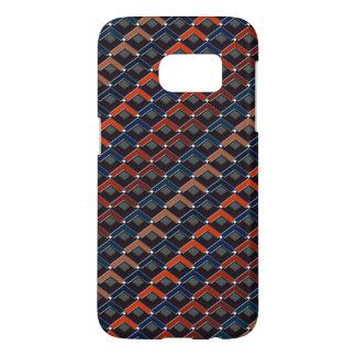 Kleurrijke zigzag karo-Stappen Samsung Galaxy S7 Hoesje