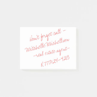 Kleverig Gekrabbel II Visitekaartje Post-it® Notes