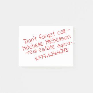 Kleverig Gekrabbel III Visitekaartje Post-it® Notes