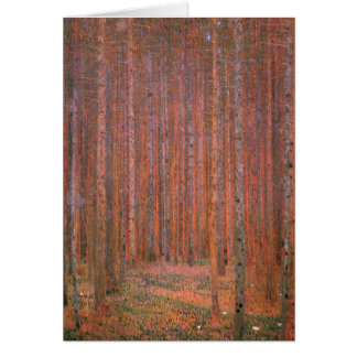 Klimt - Bos I van de Spar, die door Gustav Klimt Wenskaart
