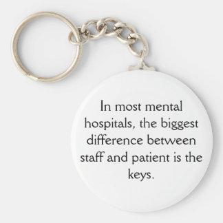 Kliniek voor geesteszieken Keychain Sleutelhanger
