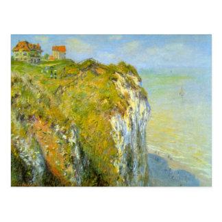 Klippen door Claude Monet Briefkaart