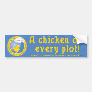 Klok Buper de kip van de Sticker A in elk perceel!