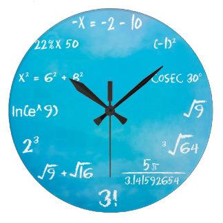 Klok - de Blauwe Klok van de Muur van Wiskunde